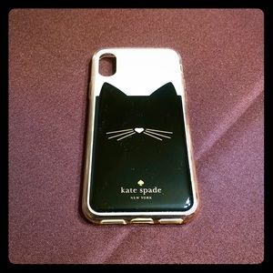 Kate Spade kitty IPhone X cover